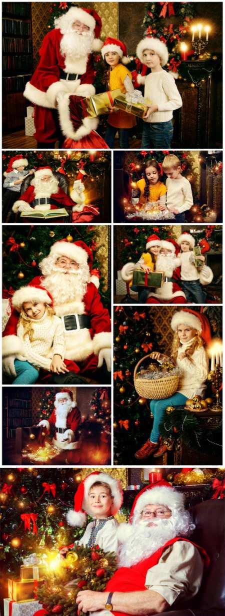 Санта Клаус с детьми