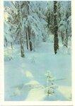 Открытка Лес снегом поздравление