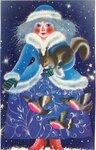 Открытка поздравление Снегурочка фото картинка