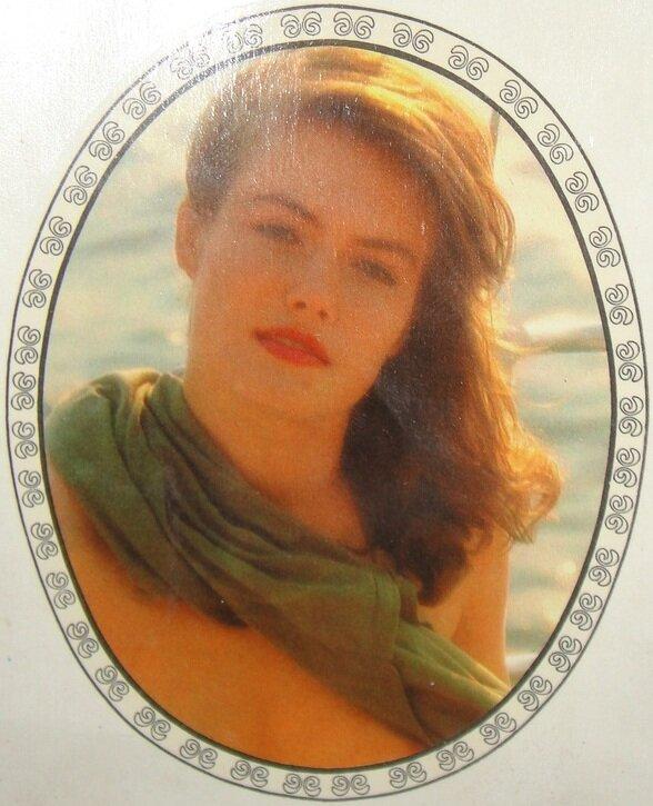 Переводная картинка из ГДР девушка 1990