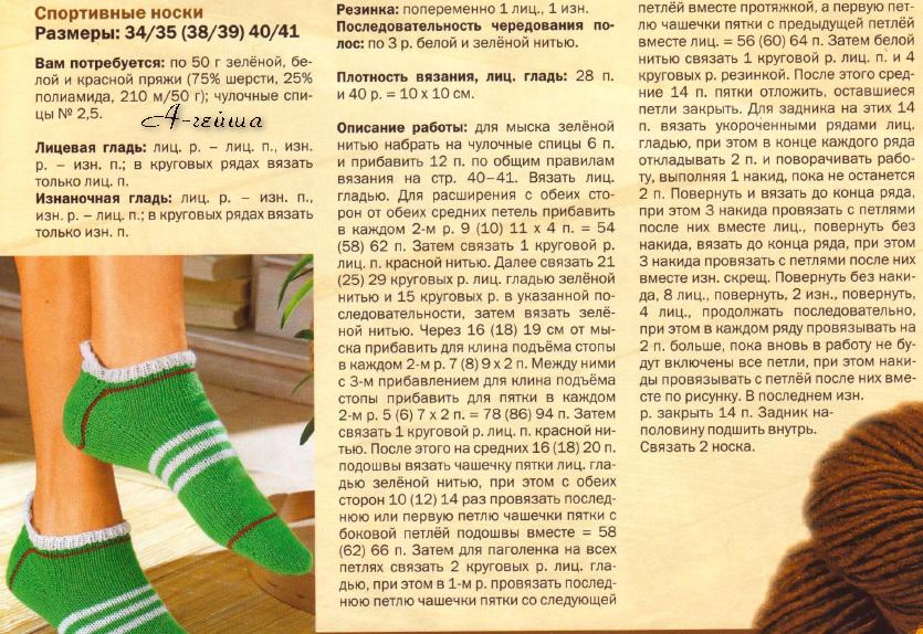 Вязание пятки носка спицами описание фото 6