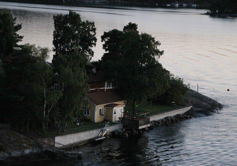 Stockholm skerries. Sanset. Закат. стокгольмские шхеры