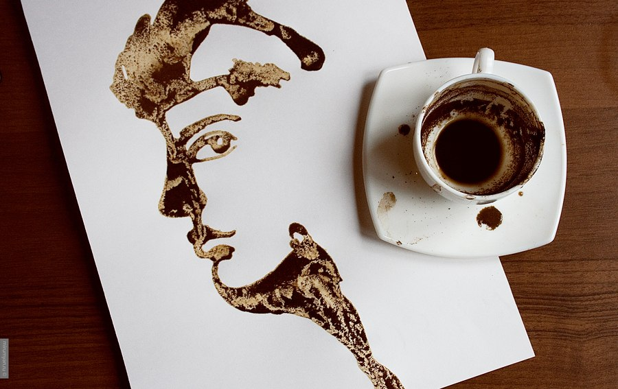 Кофе-арт от Николая Мирумяна. Гадание на кофейной гb50уще