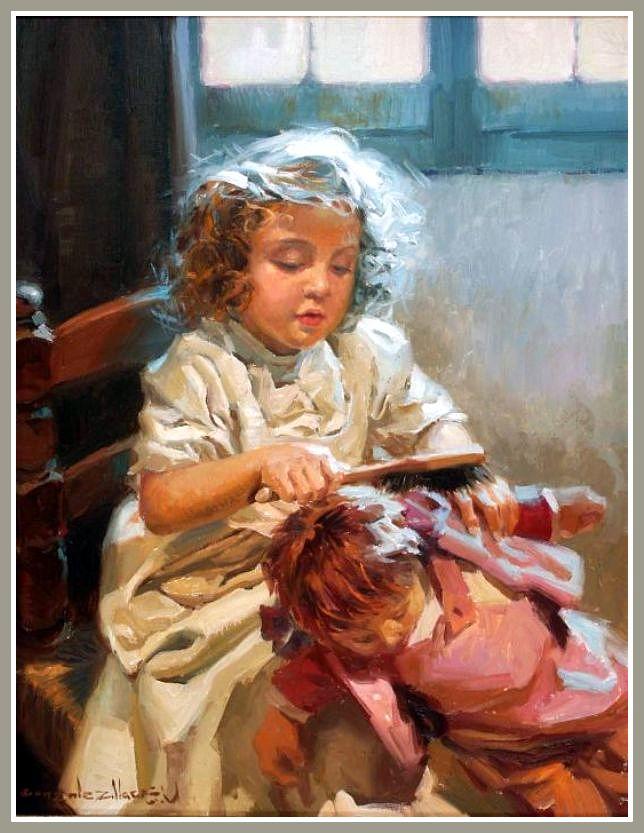 Juan Gonzalez Alacreu (р.1937) Combing the wrist