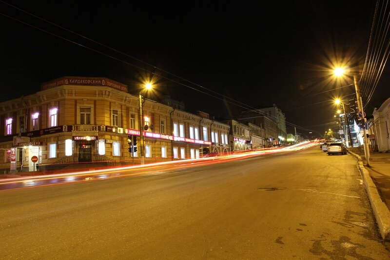 Кардаковский магазин и ул. Ленина ночью IMG_7739