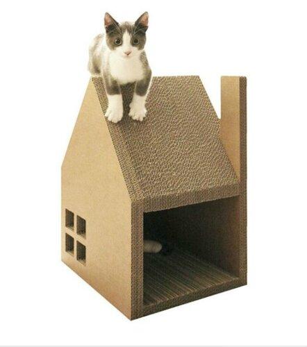 Картонный домик для кота