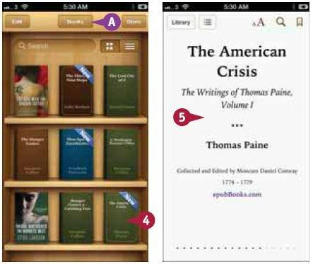 сли кнопка «Книги» (Books) не отображается на экране iBooks (центр верхней части экрана), то нажмите другие появляющиеся там кнопки