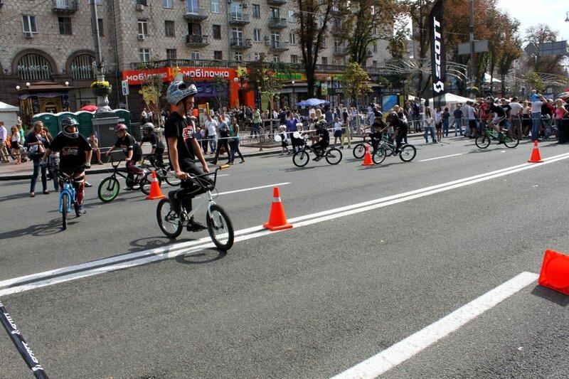 Велобайкеры на Крещатике