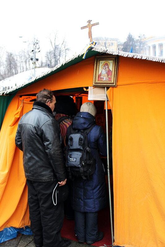 Палаточный храм Евромайдана