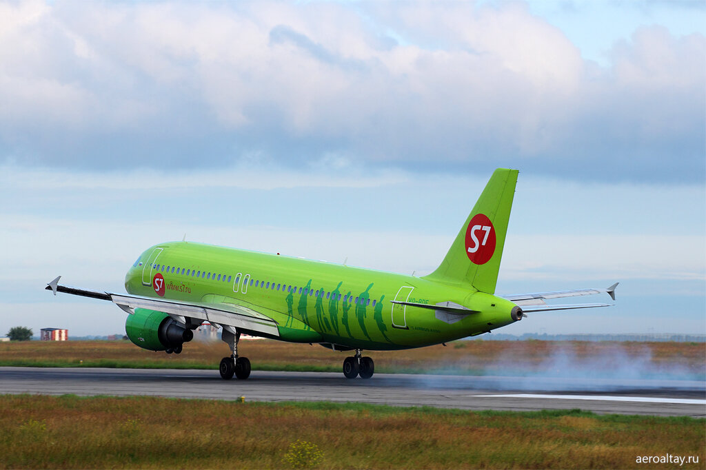 Рейс S7 из Москвы приземляется в Барнауле