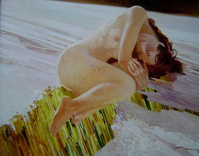 Доброе утро, красивая женщина! Художник Алексей Чернигин