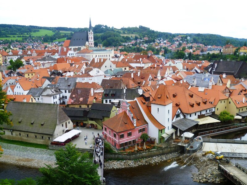 Чехия, виды города Чески-Крумлов (Czech Republic, the views of Cesky Krumlov)