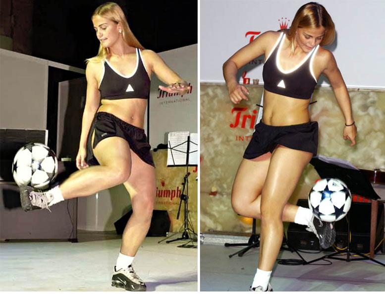 Самые сексуальные футболистки планеты - Милена Домингес / Milene Domingues
