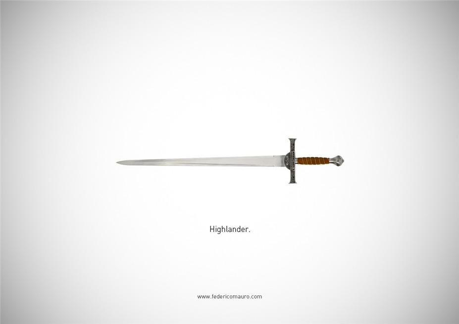 Знаменитые клинки, ножи и тесаки культовых персонажей / Famous Blades by Federico Mauro - Highlander