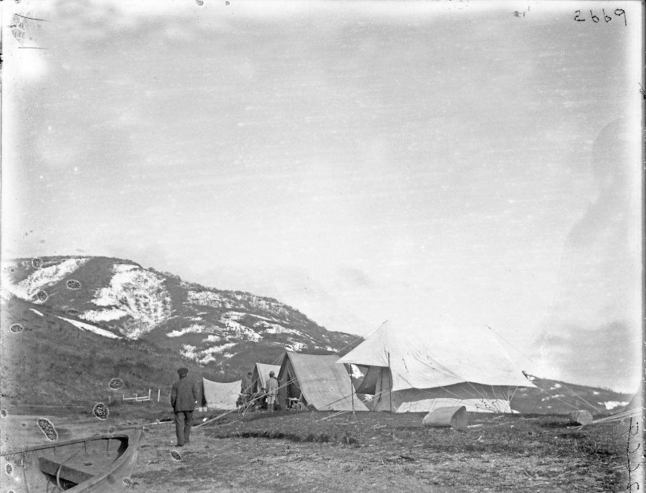 Палатки в Мариинском посту, Сибирь, 1900