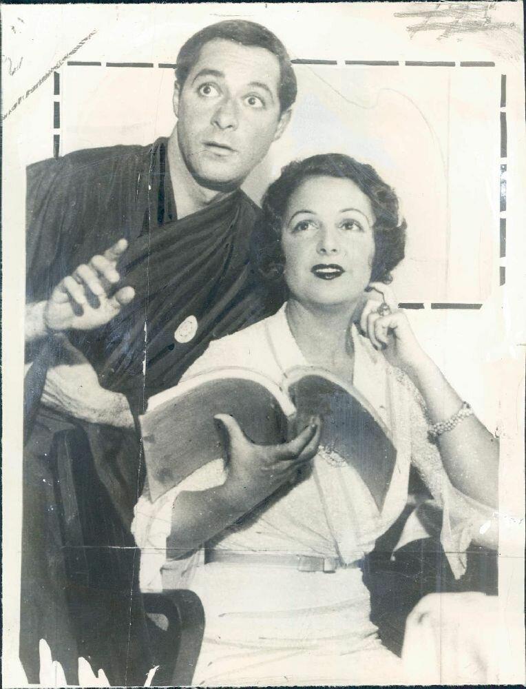 1939. Актер Джордж Джессел со своей второй женой актрисой Нормой Толмадж