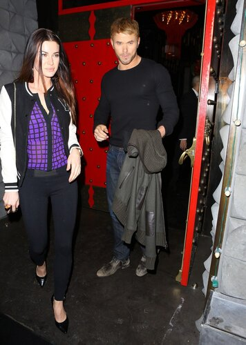 Kellan Lutz was spotted out with an attractive young woman, and forced to field questions about whether or not he was romantically involved with Miley Cyrus. The actor was spotted at Chi Lin restaurant in West Hollywood, on Thursday, December 19, 2013 X1
