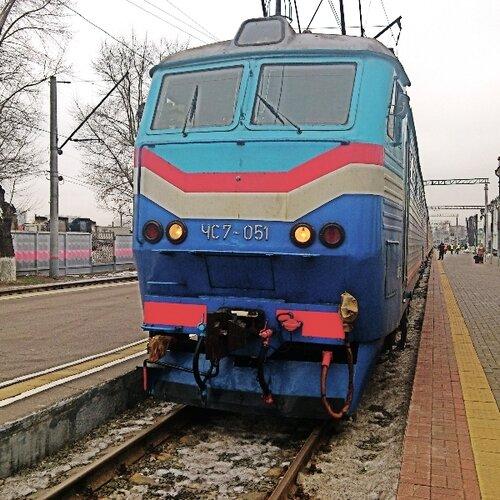 ЧС7-051 на Рижском вокзале