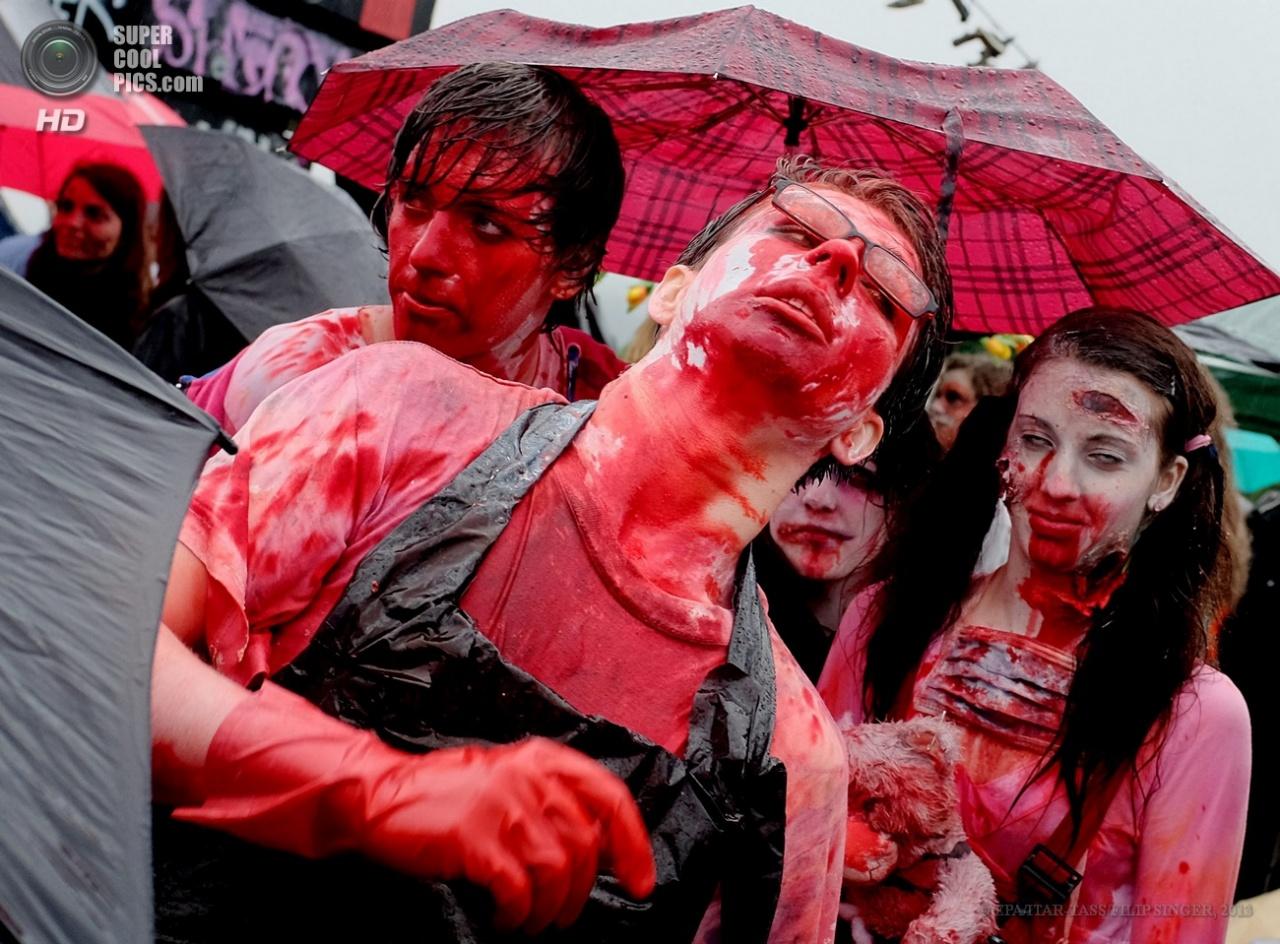 Парад зомби в Праге