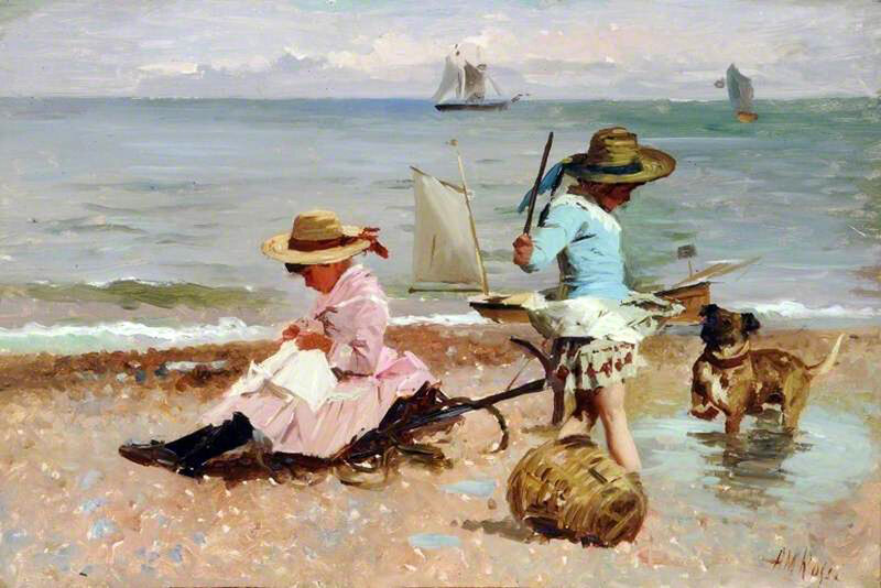 Художник Alexander Mark Rossi (British, 1840-1916)