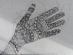 30-06 Урок 1, задание 1, рисование на бумаге zentangle на руке.