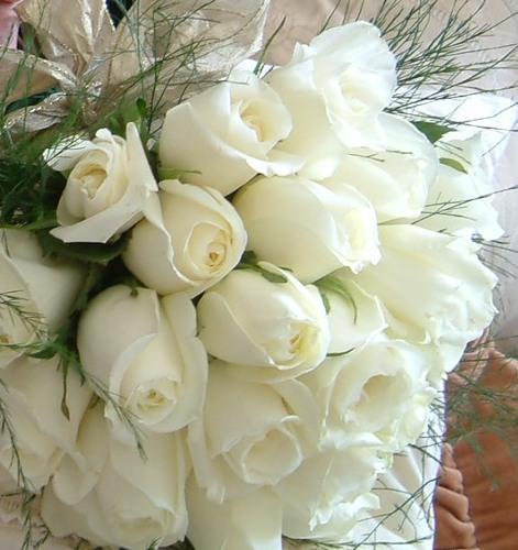 Очаровательный букет белых роз. Белоснежность
