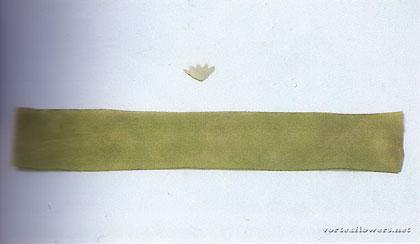 герань из ткани