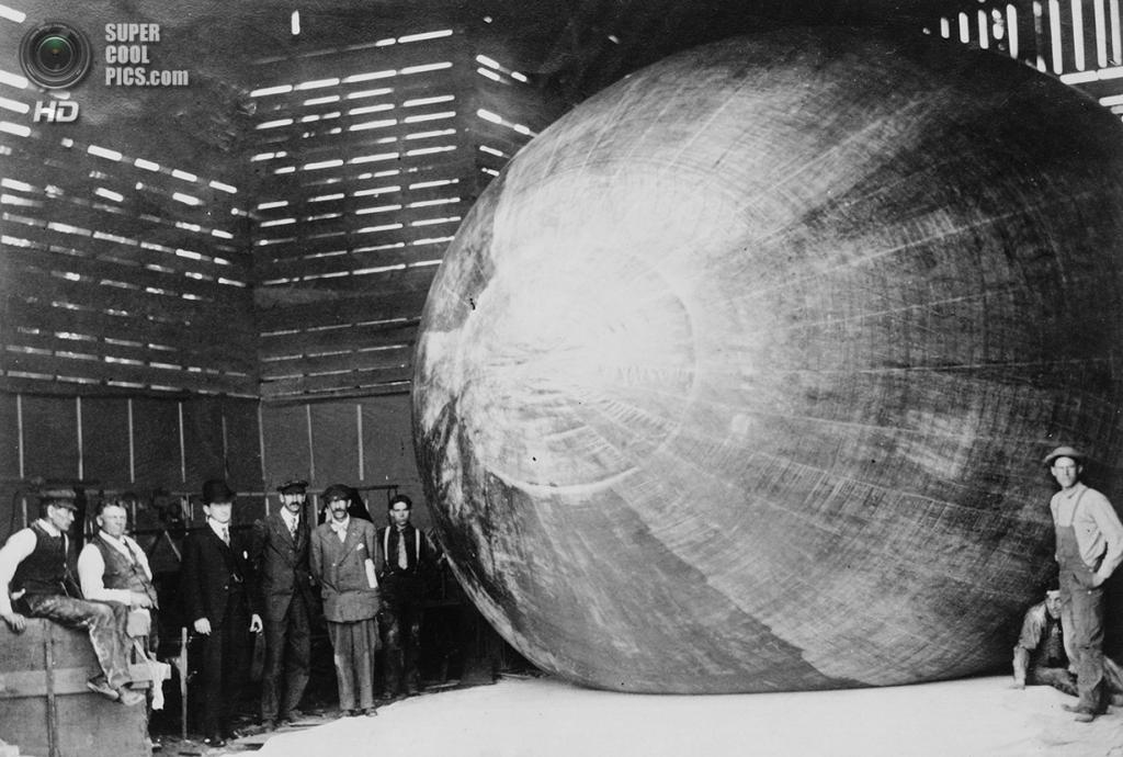 США. Хаммондспорт, Нью-Йорк. 1907 год. Томас Скотт Болдуин (второй слева) со своей командой. Бол