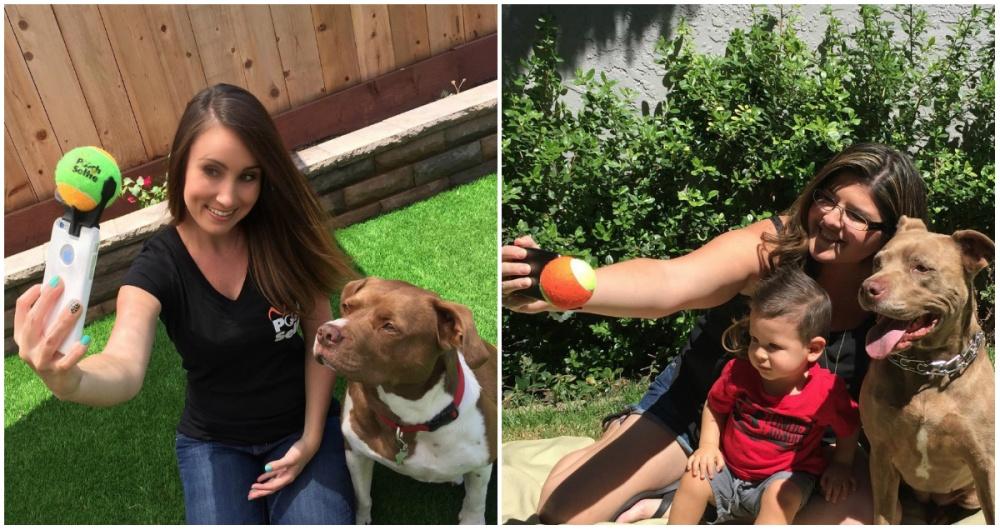 Заставить собаку смотреть вобъектив— довольно непростая задача. Изобретатели Pooch Selfie нашли ге