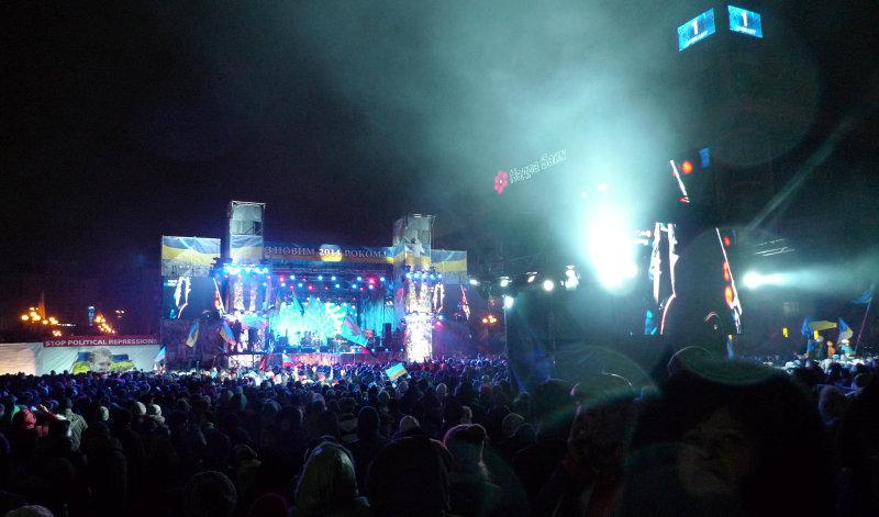 New Year 2014 on Maidan, Kiev