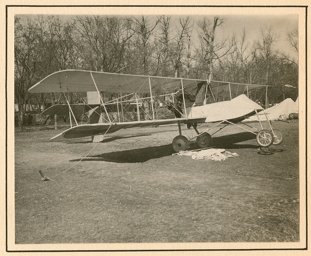 Voisin scout biplane tethered to the ground.jpg