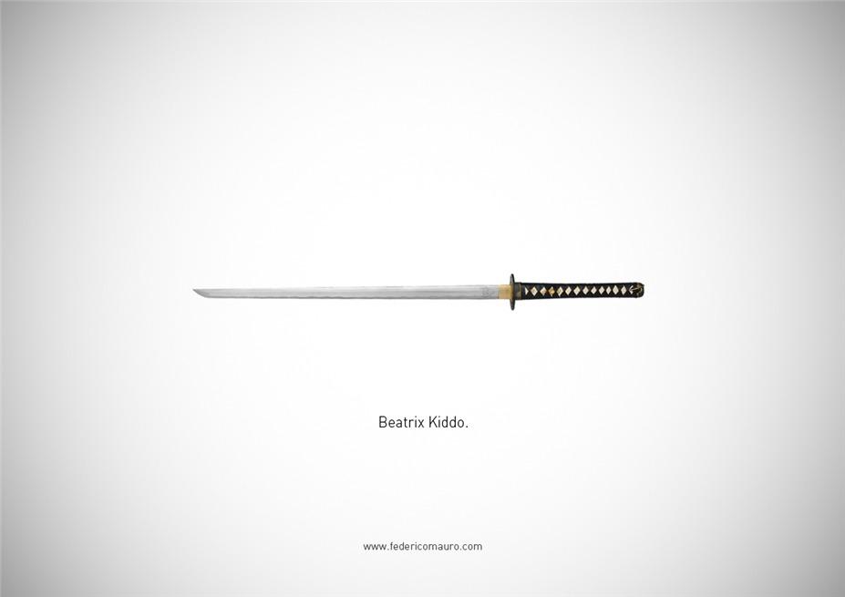 Знаменитые клинки, ножи и тесаки культовых персонажей / Famous Blades by Federico Mauro - Beatrix Kiddo