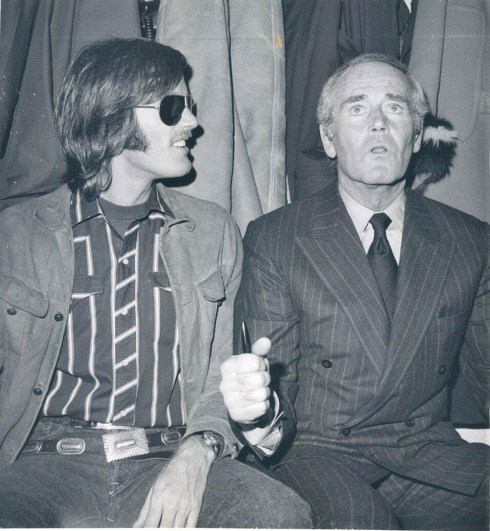 1970. Отец и сын, Питер и Генри Фонда