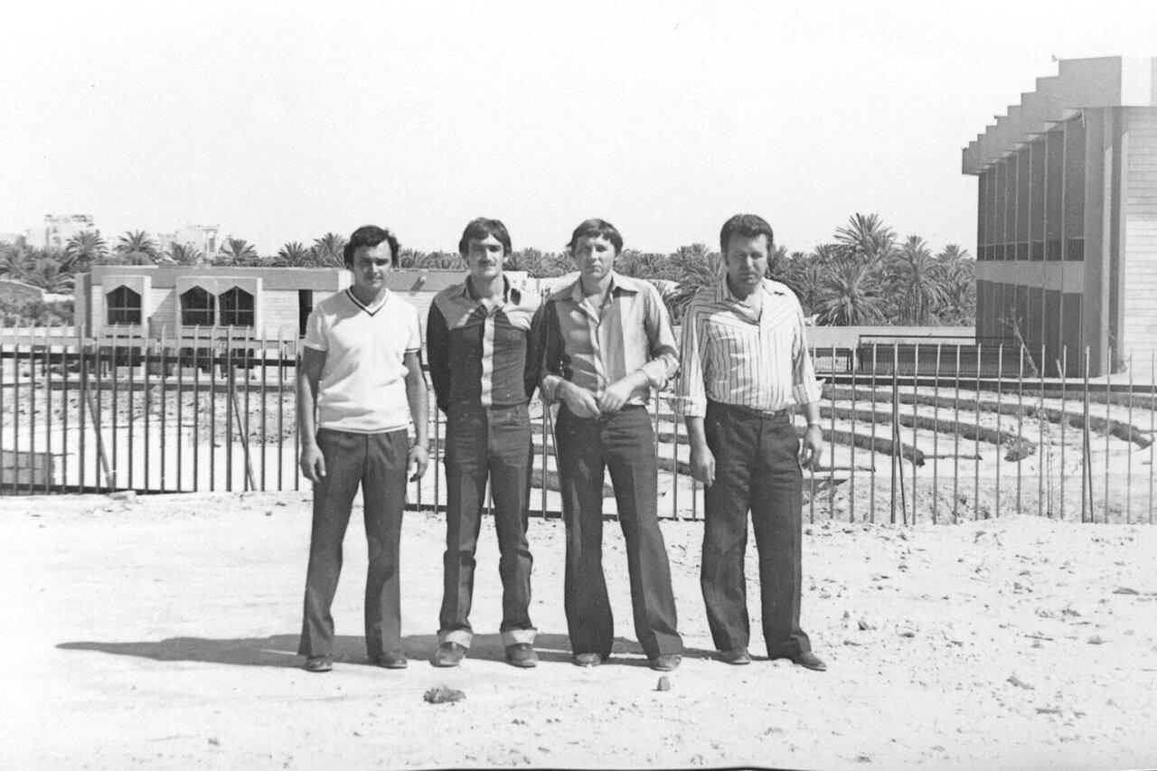 1981.Сирия, Пальмира. Рыжов, переводчик, Букатин, Середа.