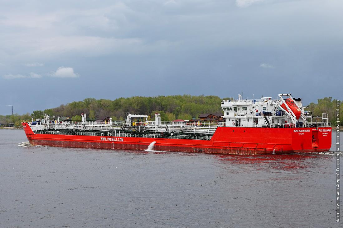 2 мая 2014 года, 13:59. Волгоград. Нефтеналивной танкер «Фариз Исмаилханов» (2003 года постройки)