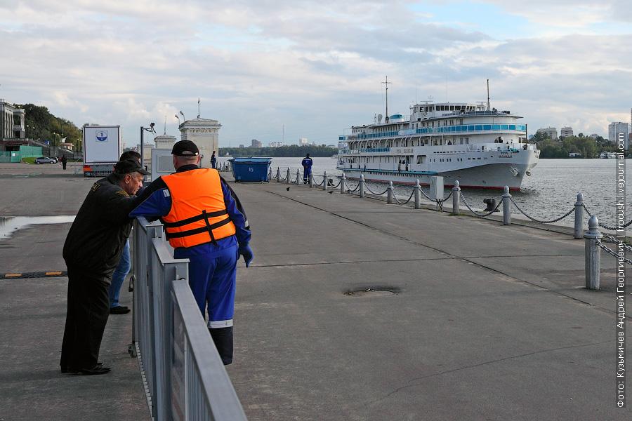 2 сентября 2013 года. Первый заход теплохода «Русь Великая» в Москву. Северный речной порт Москвы