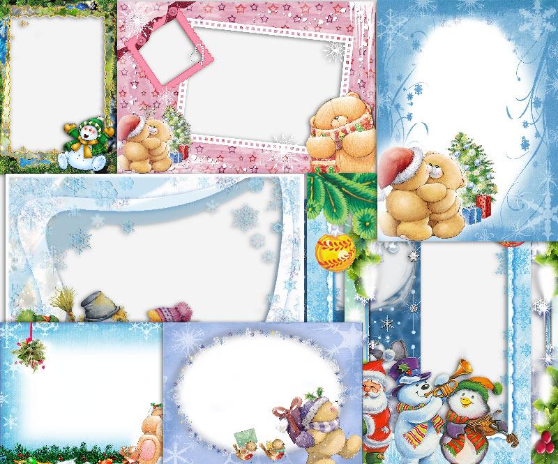 10 зимних рамок для фото