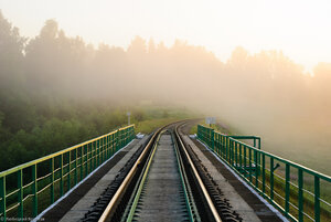 Мост через р. Угра, перегон Угра - Волоста-Пятница