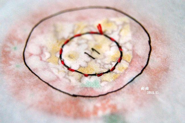 Аппликация цветок из ткани