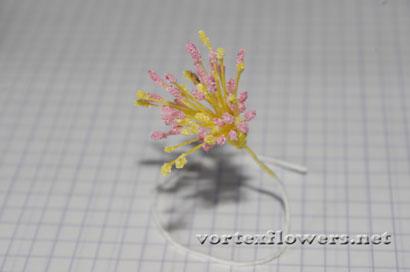 Тычинки для цветка из ткани своими руками