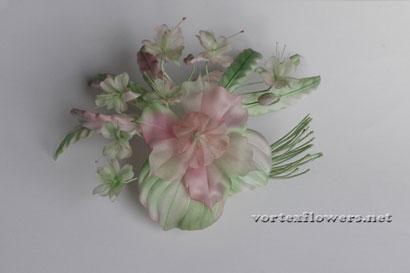 Как изготовить мелкие цветы из ткани своими руками.