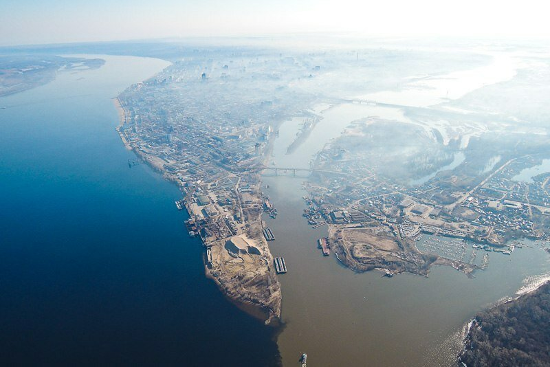 Слияние рек Волги и Самары