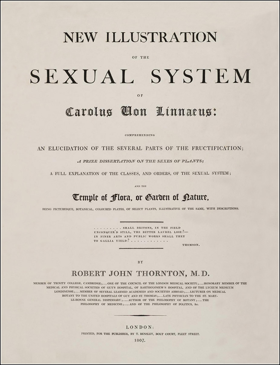 New illustration of the sexual system of Carolus von Linnaeus