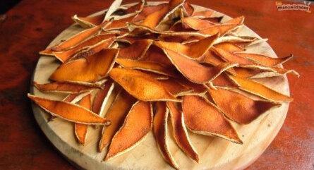 Топиарий из апельсиновых корок