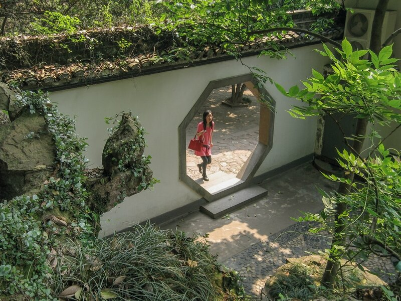 Ограда в саду, Хуанлундун, Ханчжоу