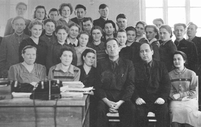 1952. Коллектив технического бюро завода Строммашина