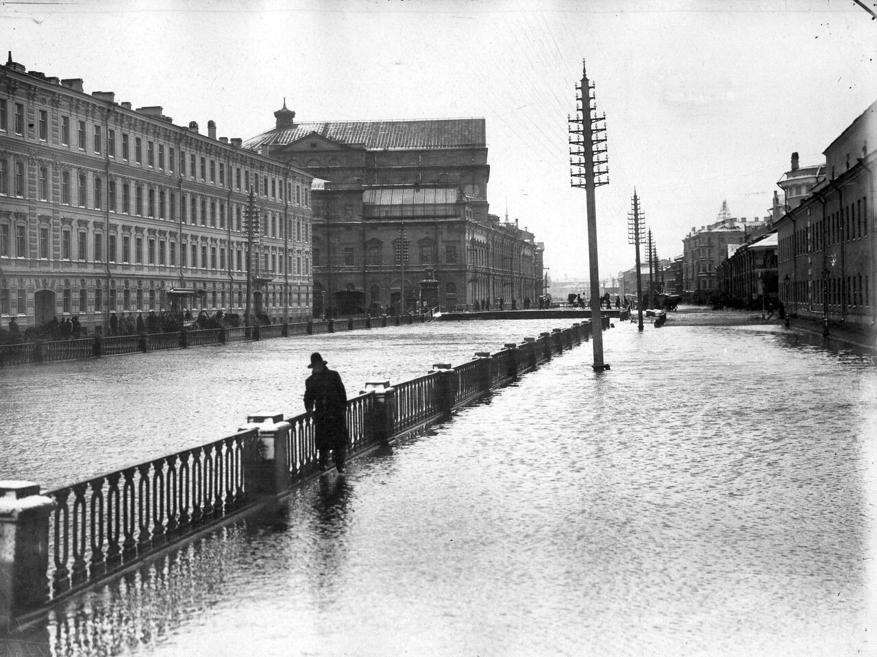 Наводнение. Крюков канал. 1903 г.