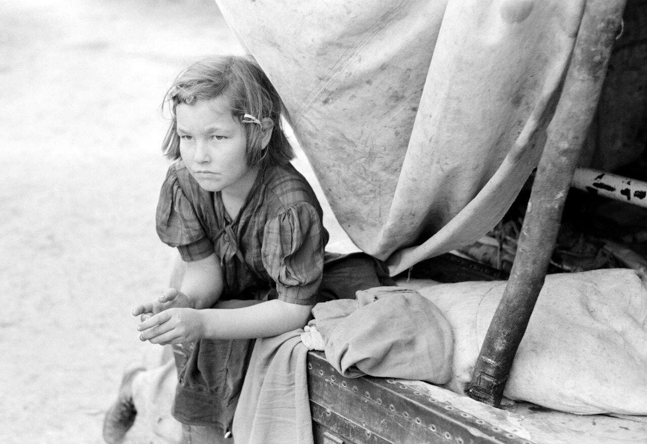 Дочт сезонных рабочих, возле Харлингена, Техас, 1939