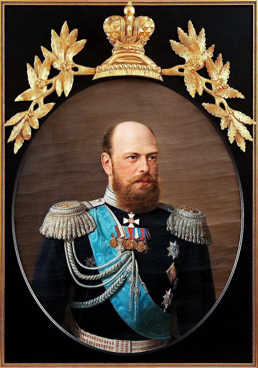 Николай Густавович Шильдер (1828-1898). Портрет императора Александра III