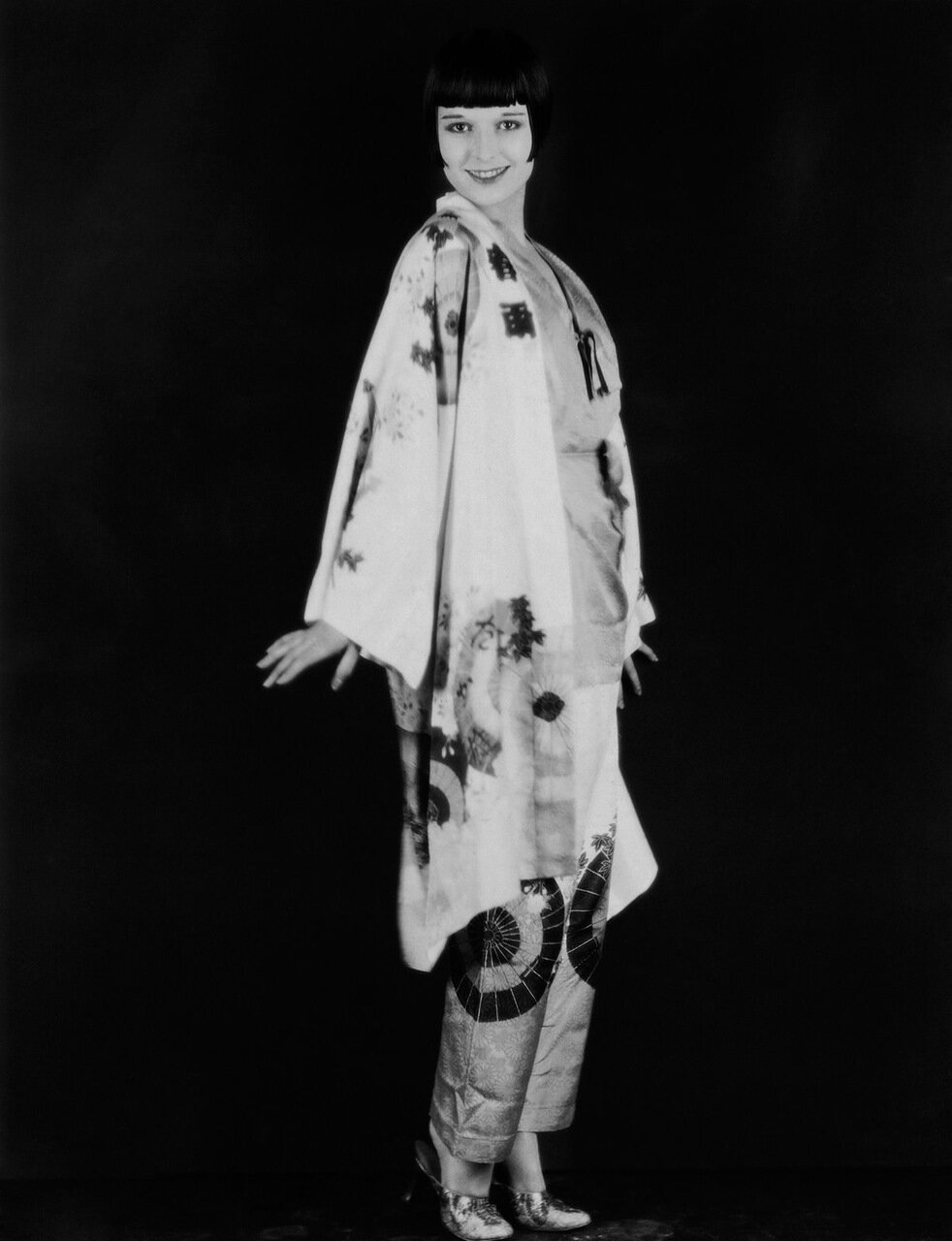 1927: Actress Louise Brooks in Oriental Style Pantsuit (Photo by Eugene Robert Richee)